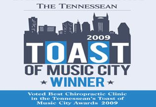 Toast Music City Winner-Dunn Chiropractic Clinic