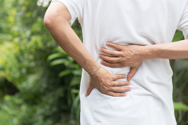 Chiropractic adjustments helping with back pain